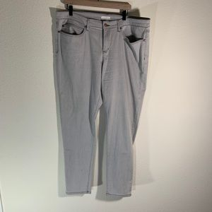 Eileen Fisher Organic Cotton Gray Jeans Plus 18
